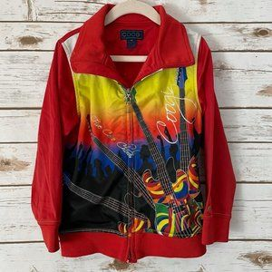 80's Coogi Five Color Chords Track Jacket RARE!